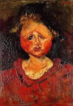 Chaim Soutine portrait of Paulette 1924. Soutine went to Bonnard for advice on layering paint to create a richer finish. In this painting Soutine committed the fundamental error of working on the painting before the surface had fully dried out. Once the picture was complete the layers of paint contracted at different rates and the surface fractured like a dried-up riverbed.