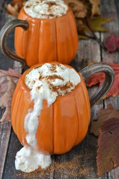 Creamy and delicious Slow Cooker Pumpkin Spice Latte topped with whipped cream and are even better than the local coffee shop!