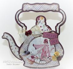 Tea Pots, Projects To Try, Shapes, Ketel, Christmas Ornaments, Holiday Decor, Scrapbooking, Cards, Handmade
