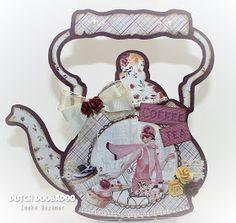 "Ineke""s Creations: Bloghop en nieuwe artikelen Tea Pots, Shapes, Ketel, Christmas Ornaments, Holiday Decor, Scrapbooking, Cards, Handmade, Inspiration"