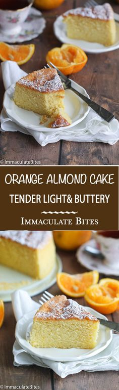 Orange Almond Butter Cake- A tender, buttery melt in your mouth cake , add this to your cake repertoire - the taste is irresistible. Holiday Desserts, Just Desserts, Delicious Desserts, Cupcakes, Cupcake Cakes, Sin Gluten, Cupcake Recipes, Dessert Recipes, Dessert Ideas