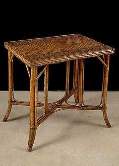 Antique Bamboo Table | Antique Table | French Antique Table | Alhambra Antiques