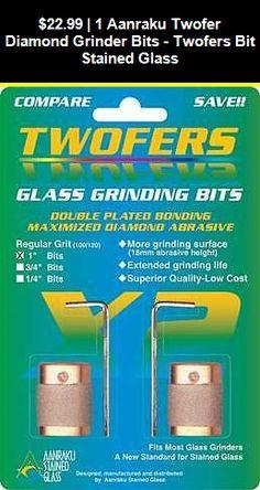 "Stained Glass  AANRAKU Twofer 1/"" Standard Grit Diamond Grinder Bit  NEW"