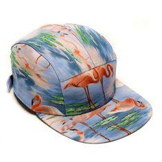 MOUPIA Flamingos 5 Panel Hat