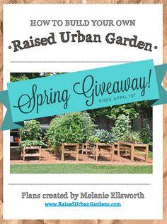 DIY Garden plans. free garden plan giveaway. click on blog link to enter. Welcome Spring!!
