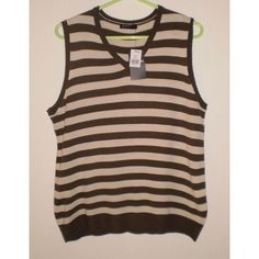 Mens Brown Striped Tank Top, Size Small, New with Tags Listing in the Jumpers & Sweaters,Knitwear,Mens Clothing,Clothes, Shoes, Accessories Category on eBid United Kingdom | 138348443