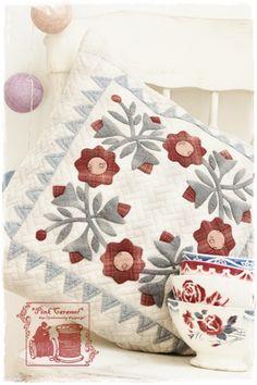 Розовый Карамель: Закончено красивую подушку !!