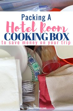 These are awesome ideas for hotel room cooking tools. If you pack the right things in your cooking box, there are so many meals that you can make in your microwave, coffee maker, and even Instant Pot. This travel cooking box has everything you need. Road Trip Food, Family Road Trips, Road Trip Hacks, Family Vacations, Road Trip Meals, Cooking Box, Cooking Tools, Cooking School, Thai Cooking
