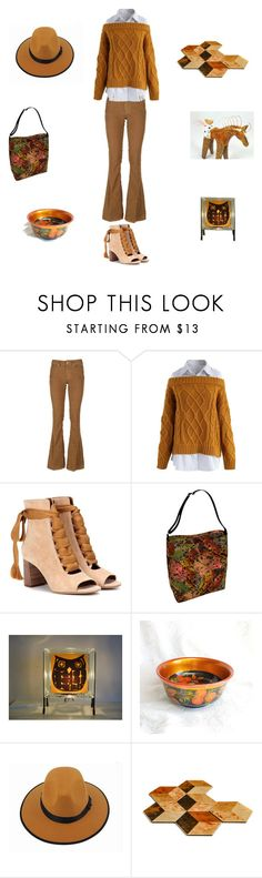 """Autumn leaves"" by einder ❤ liked on Polyvore featuring Dondup, Chicwish and Chloé"
