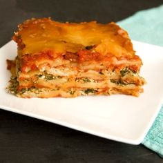 Chorizo Spinach Crock Pot Lasagne. Good like this, and fun to play with.