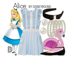 DisneyBound is meant to be inspiration for you to pull together your own outfits which work for your body and wallet whether from your closet or local mall. As to Disney artwork/properties: ©Disney Alice Cosplay, Disney Cosplay, Disney Costumes, Disney Themed Outfits, Disney Bound Outfits, Cute Disney, Disney Style, Disney Disney, Disney Tips