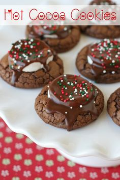 Hot Cocoa Cookies Cookie Exchange Party, Christmas Cookie Exchange, Best Christmas Cookies, Holiday Cookies, Christmas Desserts, Christmas Treats, Holiday Foods, Christmas Parties, Gift Exchange