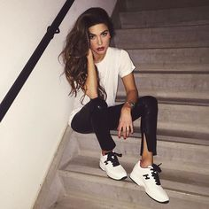 WEBSTA @ negin_mirsalehi - Saturday night cool vibe wearing @hoganbrand shoes.  #HoganClub #lifestyle