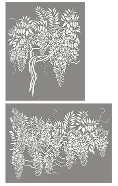 Wisteria Stencil Blossom Bough
