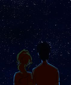 Animated gif shared by Synesthésie. Find images and videos about gif, art and book on We Heart It - the app to get lost in what you love. Estrela Gif, Couple Illustration, Illustration Art, Gif Kunst, Star Gif, Ciel Nocturne, Aesthetic Gif, Poster S, Percabeth