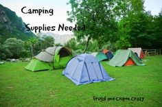 What camping supplies do you need? Being prepared with the right supplies
