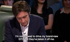 Poor Richard :( And he was so excited about it,too. #TopGear