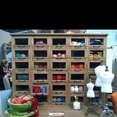 Organized Yarn Shelving