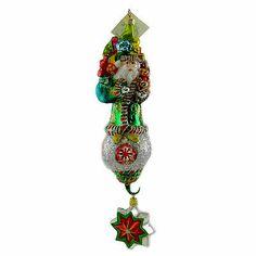 Larry Fraga PEPPERMINT SANTA 467 Ornament New