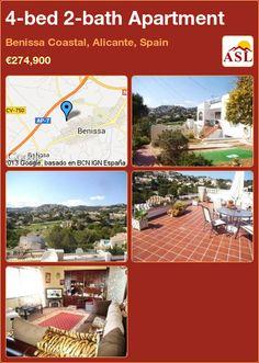 4-bed 2-bath Apartment in Benissa Coastal, Alicante, Spain ►€274,900 #PropertyForSaleInSpain