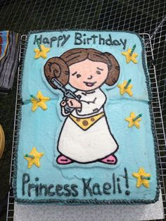 Princess Leia cake my friend made for my daughter's 7th birthday