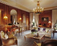 Prestige suite at Le Meurice, rue de Rivoli, Paris.