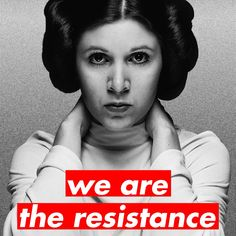 Women's March Protest Sign by Vanessa Witter. We are the resistance. -Princess Leia For tiled version to print - https://we.tl/iFtvEEhAes