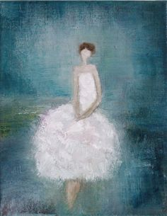 Figurative Painting  Original art  Ready 11 x 14 by SwallaStudio.  Just bought this!  I love this artist