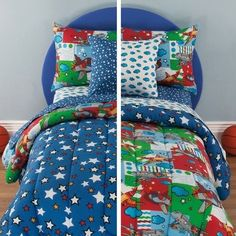 Boys Full Comforter Set Space Friendly Flyers New Reversible Bed In A Bag #Generic