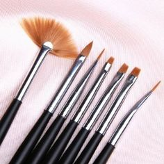 350buy 7pc Black Nail Art Design Painting Pen Polish Brush Set Fashion for Nail Art by 350buy. $5.99. suitable for blending, side loading and getting into tight areas. drawing tools + dotting tool + painting tools (can be used as gel nail curing brushes) + fan brushes for nail art effect. ideal for fine nail art work. Size: app18cm Long easy to handle, perfect for professional and home use create beautiful nail designs whatever you want Brand new Package included£º1 X pack...