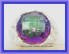 'Beautiful SS Checkerboard Cut Mystic Topaz Sz 7' is going up for auction at 10pm Tue, Jul 16 with a starting bid of $10.