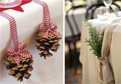 Idéias fáceis prá decorar a mesa de Natal - *Decoração e Invenção*