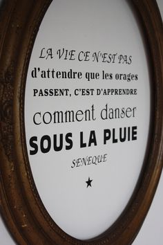"Image of Sticker "" Danser sous la pluie "" - Best Pins Live Positive Words, Positive Attitude, Favorite Quotes, Best Quotes, Miracle Morning, Short Poems, Life Rules, French Quotes, Thoughts"
