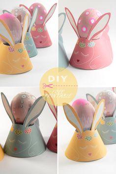 Free Printable Easter Bunny Egg Holders