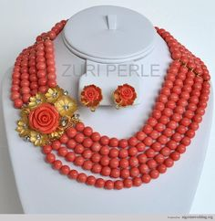 Nigerian Wedding Peach Coral Beads