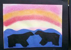 Arctic Blast- polar bear/penguin winter art project and bulletin board for elementary polar bears 1 – TeacherTime123