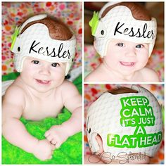 Personalized Cranial Band Golf Theme Keep Calm by OSoSplendid