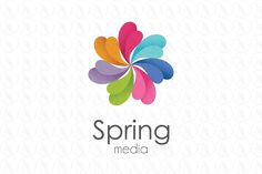 spring circle colorful media - $350 (negotiable) http://www.stronglogos.com/product/spring-circle-colorful-media #logo #design #sale #software #technology
