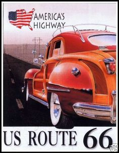 Route 66 Americas Historic Highway http://stores.ebay.com/Vintage-Poster-Prints-and-more
