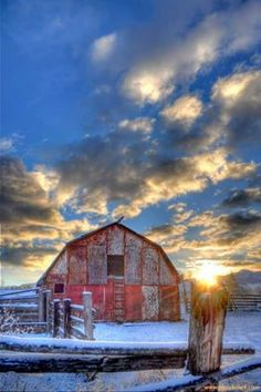 Red Barn Morning Missoula, Montana