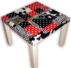 Decopatch - Napkins Technique - Home Deco: decopatch.  An Ikea Lack Table - inspired :)