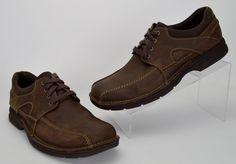 Clarks Men's Size 10 M Senner Oxford Chocolate Nubuck Lace Up Shoes 66247 #Clarks #Oxfords
