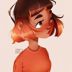 Manga Drawing Tutorials, Girl Drawing Sketches, Cute Girl Drawing, Cartoon Girl Drawing, Girl Cartoon, Cartoon Drawings, Pretty Art, Cute Art, Alien Drawings