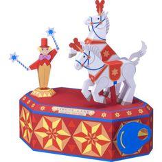 白馬の曲芸,おもちゃ,ペーパークラフト,馬,サーカス,ピエロ,動く