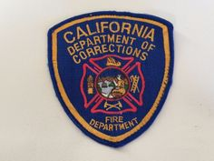 Vintage California Department of Corrections Fire Department Patch / CAL Fire