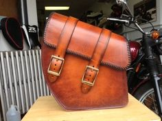 Leather Motorcycle Swing Arm Bag