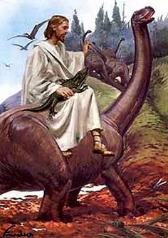 Portraits of Jesus and Dinosaurs