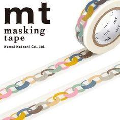MT Mina PerPhonen Matte Color Links Washi Tape.  Get it here: http://washikawaii.com/shop/japanese-washi-masking-tape-mt-mina-perphonen-matte-color-links/