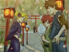 What a pretty picture of Gaara and his siblings!