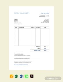 Quotation Templates In 2020 Sales Quotation Quotations Sales